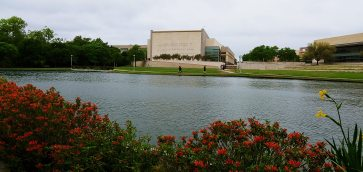 Bush library pond